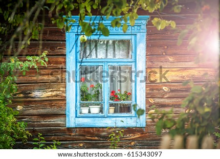 old wooden house in village. an ...