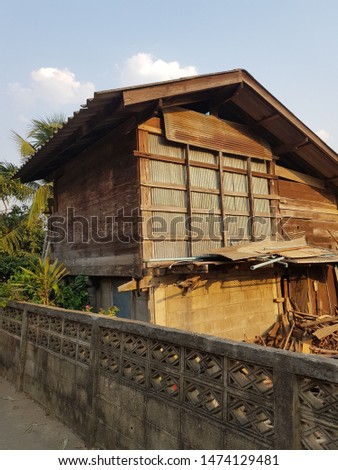Old wooden house  Located in the north of Thailand #1474129481