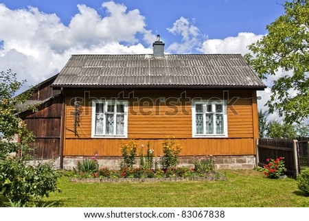 Old wooden house village