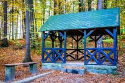 old wooden hut at the european alps - bavaria