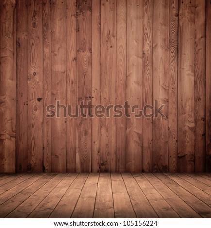 old wooden interior room. #105156224