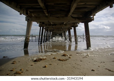 old wooden jetty #31943194