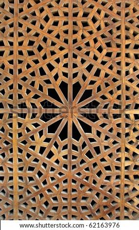 Old wooden latticework - stock photo