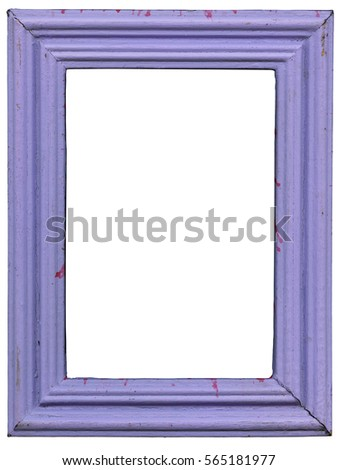 Old wooden photo frame purple.