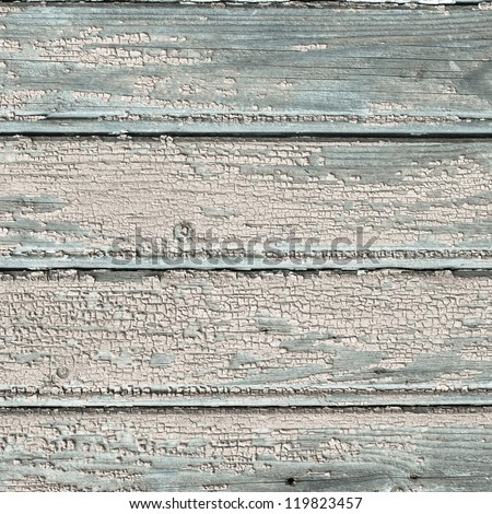 old wooden plank wall of a house. Square format