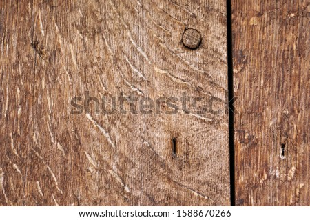 Old wooden planks. Natural brown background and texture.
