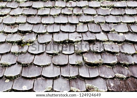 old wooden roof in Thailand