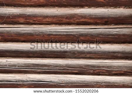 Old wooden rough rough logs. #1552020206