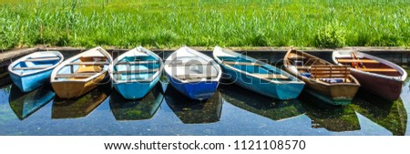 old wooden rowboats in austria