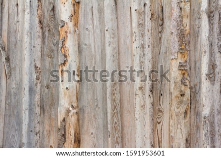 Old wooden rustic background of rough rough boards