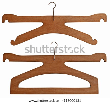 Old wooden sale hanger for clothes
