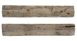 old wooden sign board background. plank wood isolated for design art work or add text message.