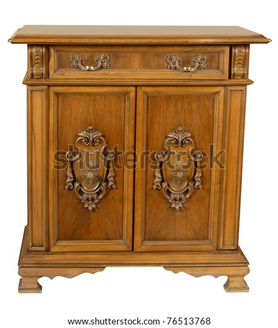 old wooden style cupboard