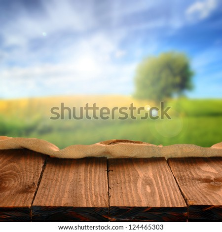 Old wooden table for Your photo montage
