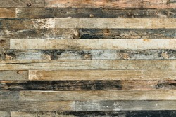 Old wooden wall background or texture