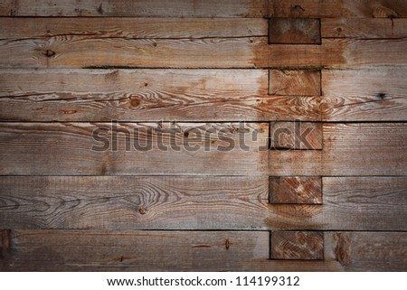 Old wooden wall used as background