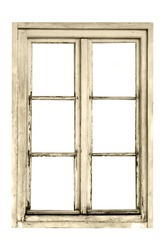 Old wooden window