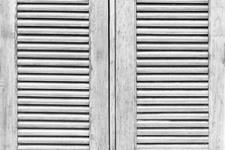 Old wooden windows with white shutters pattern and background seamless