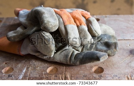 Old workman's gloves