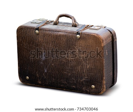 Old worn case isolated on white with clipping path Stock photo ©