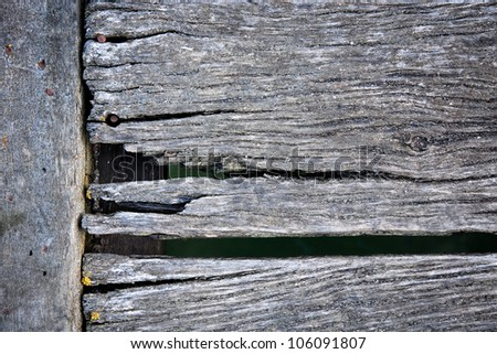 Old worn deck boards