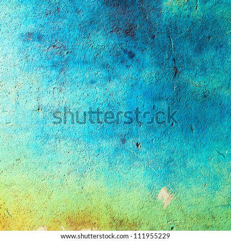 Old worn-down blue wall texture backdrop
