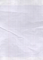 Old worn lined paper sheet texture background.
