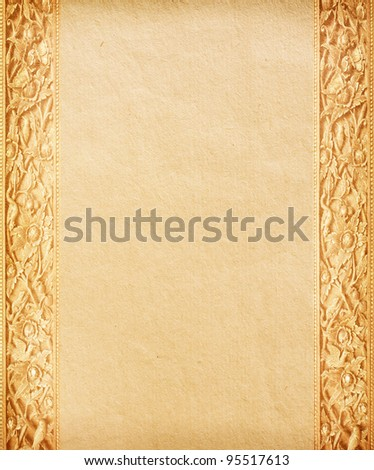 Old worn paper with decorative ornament