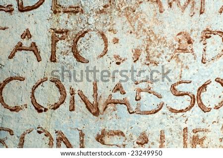 Old worn written text background texture