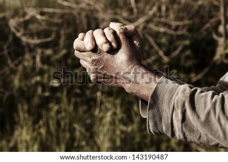old wrinkled hands.