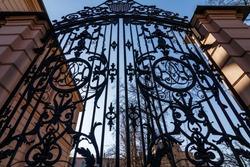 old wrought-iron gates