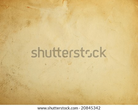 old yellow paper background with scratches - stock photo