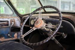 Oldcar inside view classic