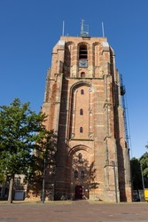 Oldehoven church tower in Leeuwarden, The Netherlands