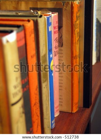 Older books on a shelf