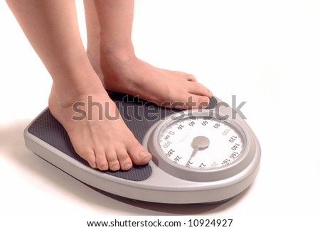 Older Male Weight Gain - stock photo