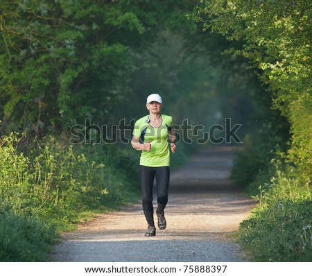 Older woman running