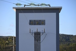 Oldfashioned transformer house for electricity