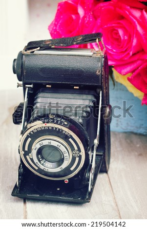 oldvintage  photo camera with...