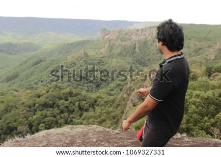 olhando a montanha  Foto stock ©