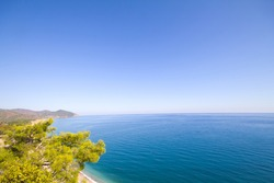 Olimpos Mediterranean Sea and Mountain . Antalya. Turkey