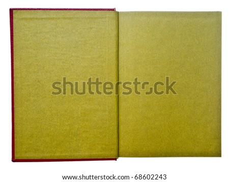 Olive green page notebook isolated on white background