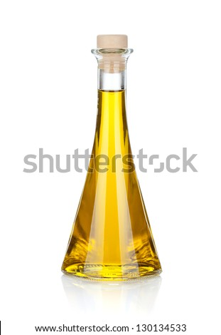 Olive oil bottle. Isolated on white background