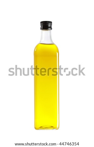 Olive oil bottle isolated on white background