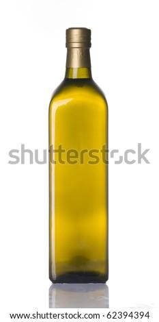 Olive oil bottle isolated over white background