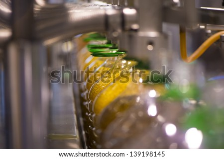 Olive oil factory, Olive Production. Food automation