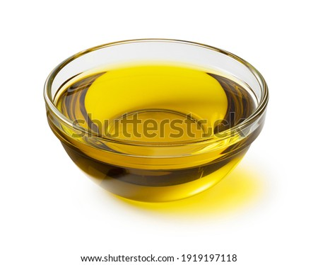 Olive oil in a crow bowl on a white background Сток-фото ©