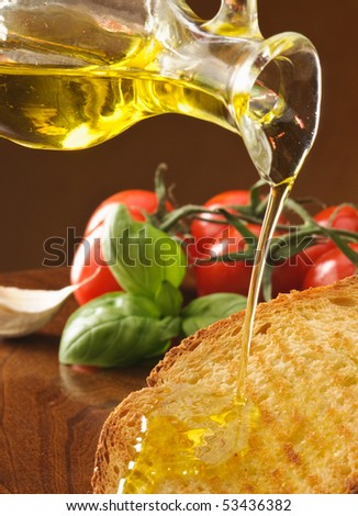 Olive oil on toast