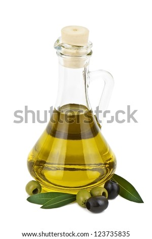 olive oil on white background