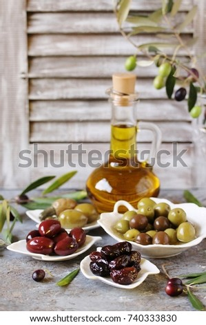 olive products - olive oil, dried olives, pickled olives, olives stuffed with cornichons. #740333830